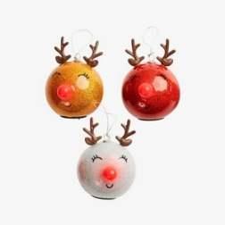 Coffret 3 boules de Noël lumineuses - Vertbaudet