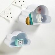 Étagères murales, nuage, Spacielle (lot de 2)