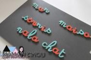 Les lettres mobiles Montessori