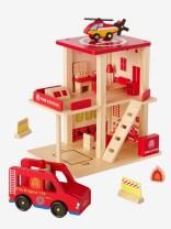 Caserne de pompiers en bois et accessoires