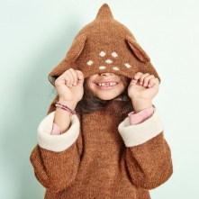 Oeuf NYC Burnou Baby Alpaga Bambi Marron