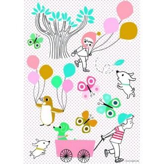 Sticker Petit rétro Les Ballons