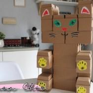 Chat en carton Gigi
