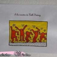 Le tableau à la manière de Keith Haring
