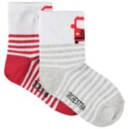 Lot de 2 paires de chaussettes à rayures et camion de pompier