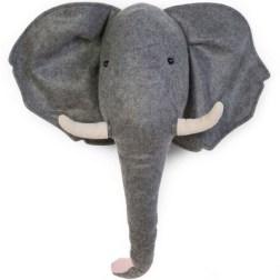 Trophée éléphant en feutre Childhome