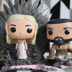 FUNKO POP - Game of Thrones - Iron Throne 6' &Daenerys Targaryen wedding dress & Khal Drogo