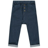 Pantalon à rayures verticales et boutons fantaisie
