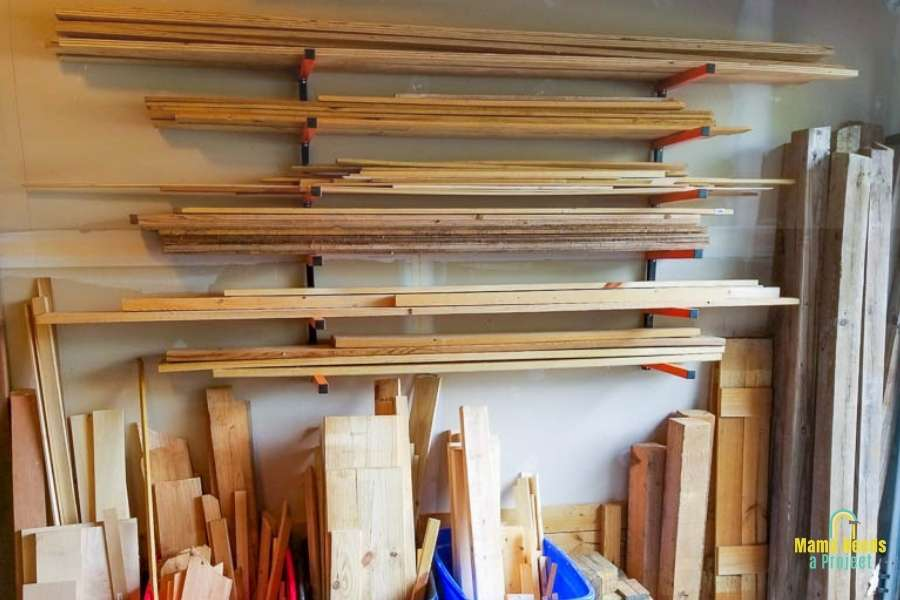 lumber storage for a small space