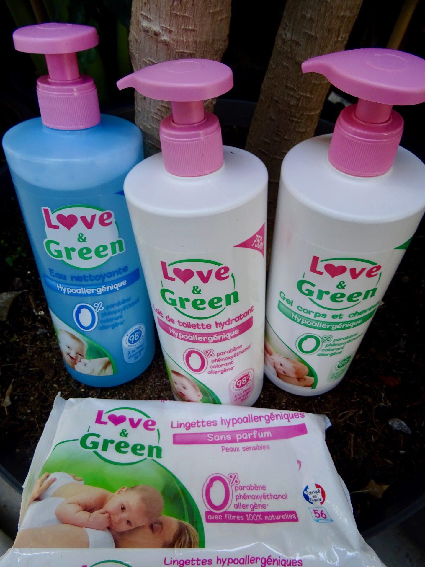 Les produits bébé de Love & Green, leur histoire et pourquoi j'ai choisi de leur faire confiance !