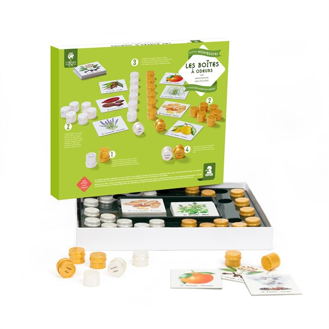 Les Boites à odeurs Montessori de chez Nature & découvertes