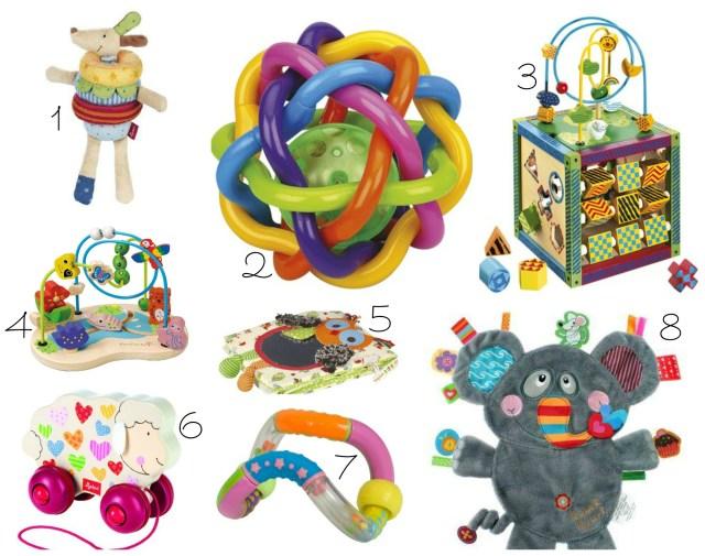 idées cadeaux bébé baby waltz jouets bois peluche balle doudou