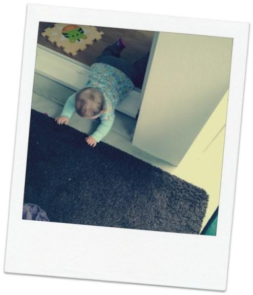 bébé s'échappe