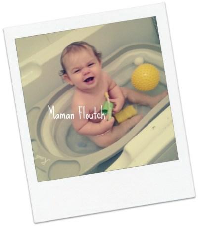 le bain bébé
