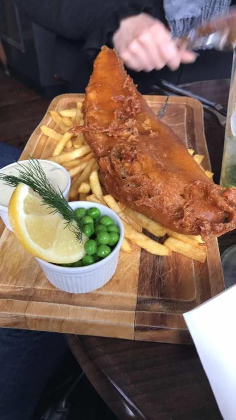 the fish and chips