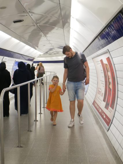 metro londres avec enfants
