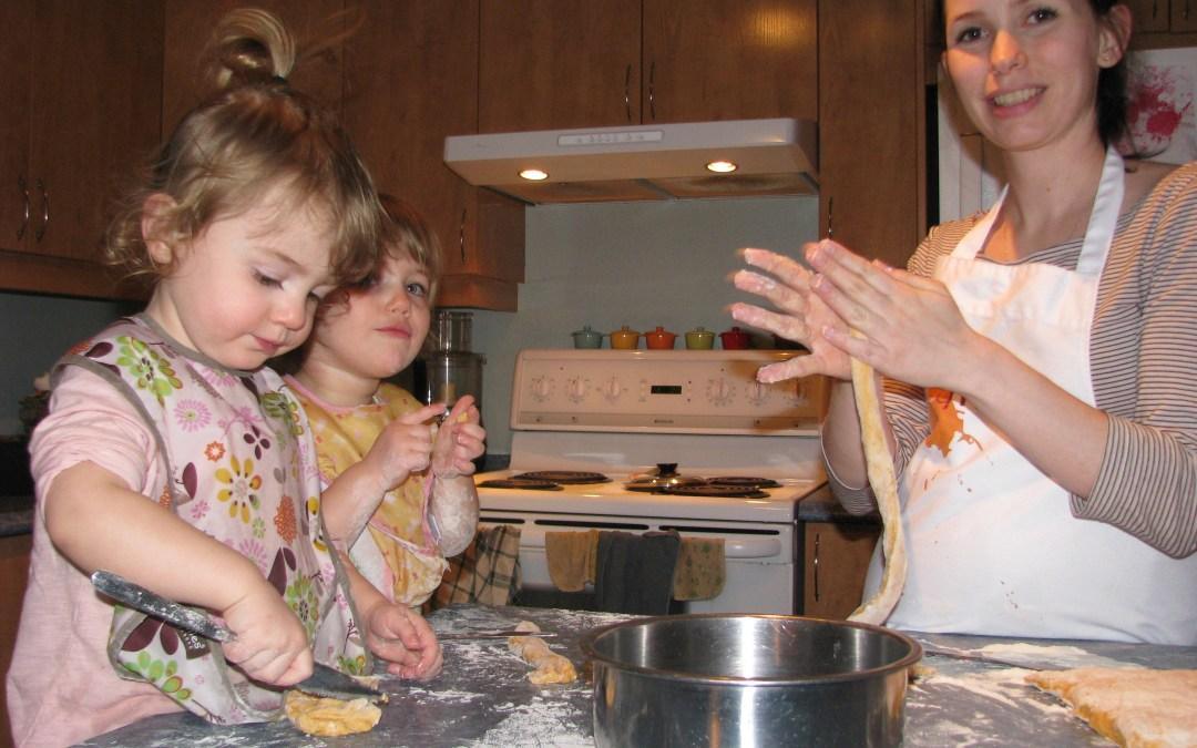 Cuisine en famille par temps gris