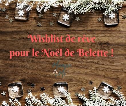 Wishlist de rêvepour le Noël de Belette !