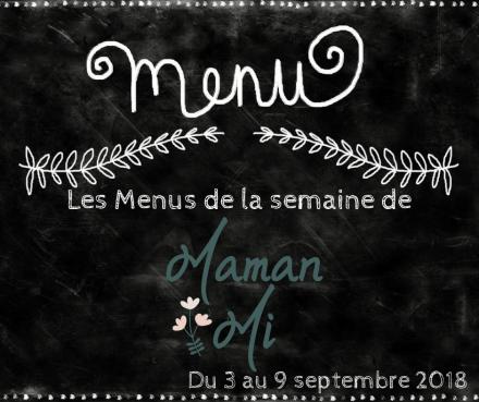 Les Menus de la semaine de MamanMi 33