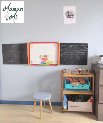 tableau écolier chambre enfant décoration bleu