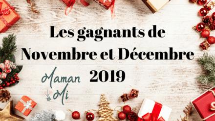 gagnants concours maman mi Novembre et Décembre 2019
