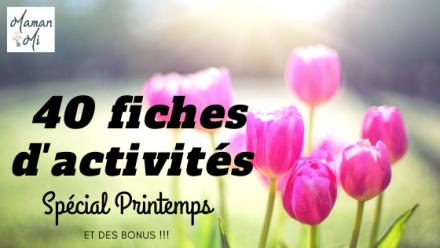 40 fiches d'activités printemps mamanmi