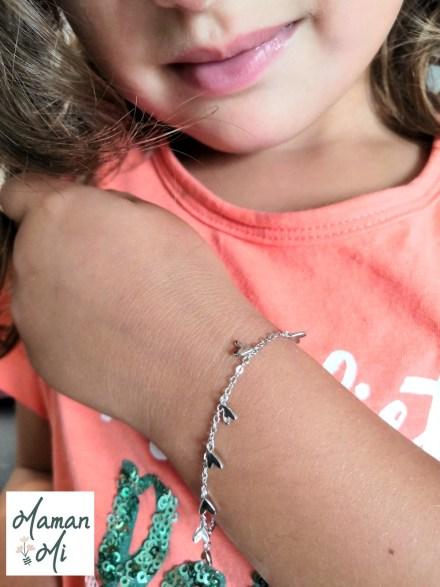 bracelet cœurs enfant