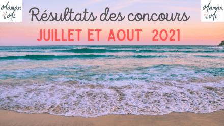 résultats concours juillet aout 2021
