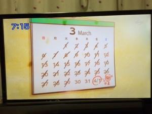 おはスタやまちゃんカレンダー