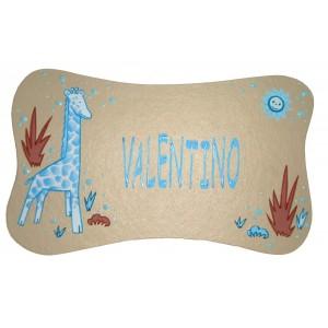 plaque-de-porte-personnalisable-enfant-safari-turquoise