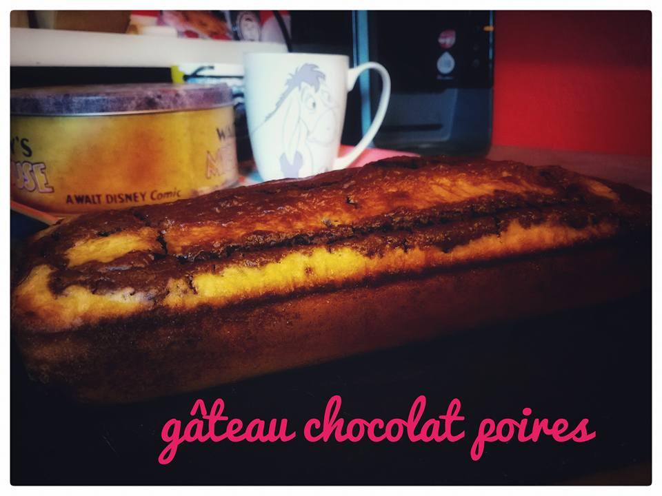 Gâteau aux poires et chocolat faible en calories