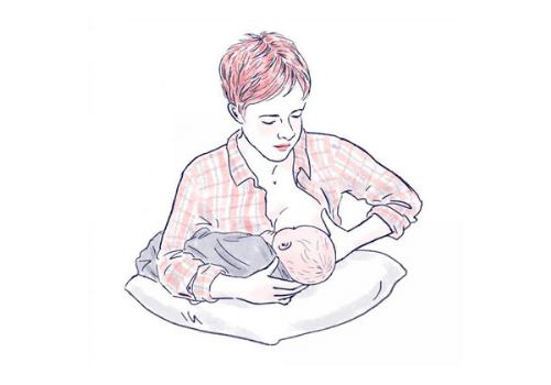 position allaitement madone inversée