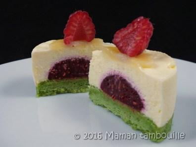 entremet pistache framboise creme amande48
