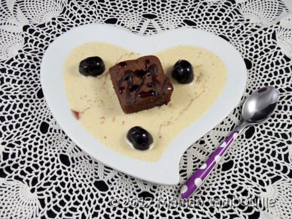 crème anglaise amarena brownie09