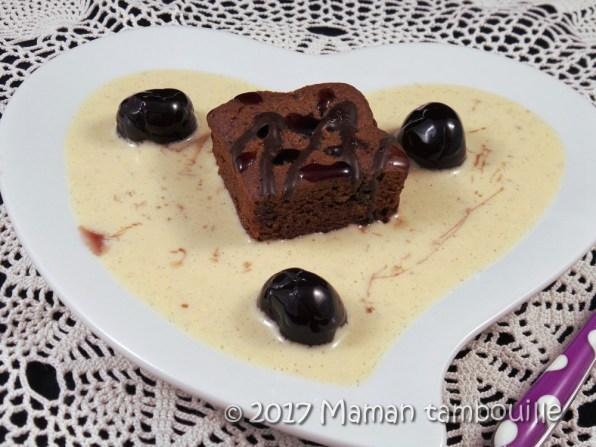 crème anglaise amarena brownie14