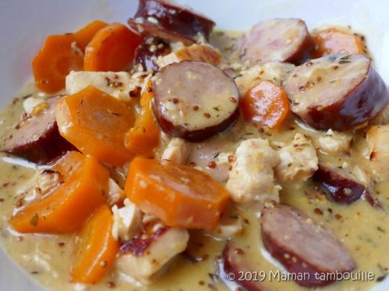 poulet saucisses fumees au cookeo17