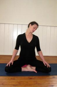 neck rolls prenatal yoga