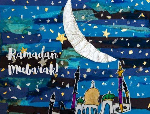 MAMANUSHKA.com || Ramadan Collage || Kids Ramadan Art || by Ismail Bhat