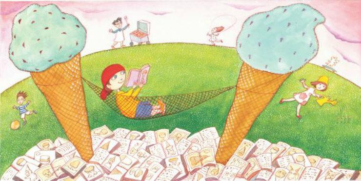 ice-cream-summer-interior-library-find-via-mamanushkablog