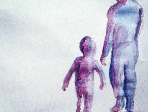MAMANUSHKA.COM || On Being The Parent Who Forgot || Father and Child || Water Color