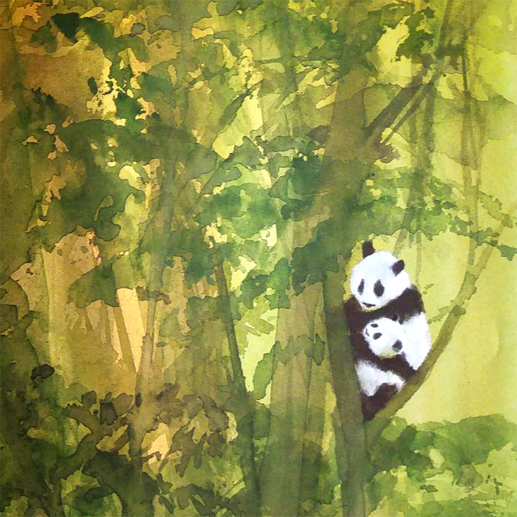 MAMANUSHKA.com || The Three Questions: A Timeless Fable On How To Be Good || Jon J. Muth || Picturebooks || Watercolor || Pandas
