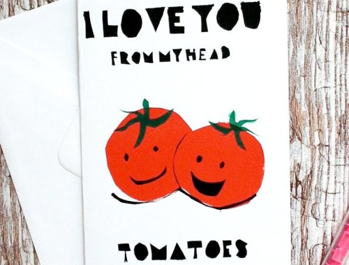 MAMANUSHKA.com || Funny Punny Valentine's Cards || Roundup || Foodie Card || Designed by Ginger Doodles