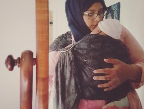 MAMANUSHKA.com || New Mother || New Baby || Third Baby || Baby-Wearing || Oscha Ringsling ||