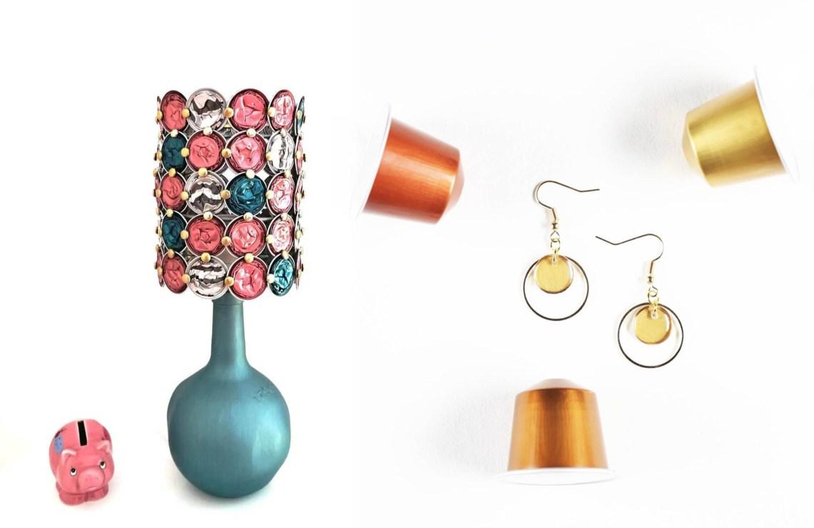 comment recycler ses capsules nespresso en bijoux ou en lampe