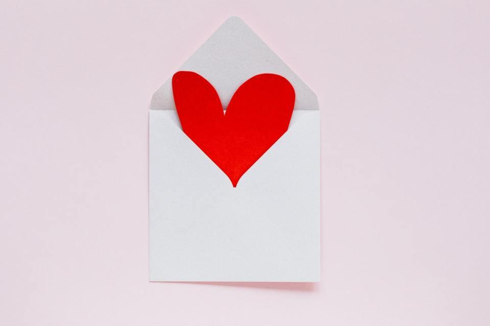 une lettre d'amour est un cadeau immatériel et éco-responsable