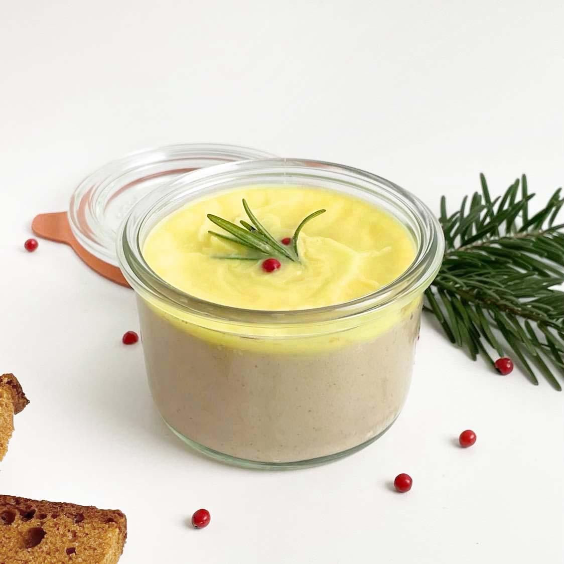 foie gras vegan pour les fêtes : terrine végétale
