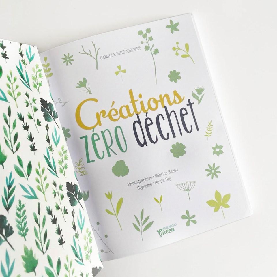 livre créations zéro déchet couture éditions mango