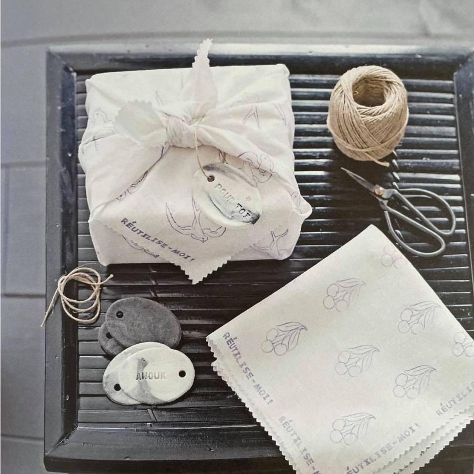 livre créations zéro déchet couture, furoshiki emballage écologique