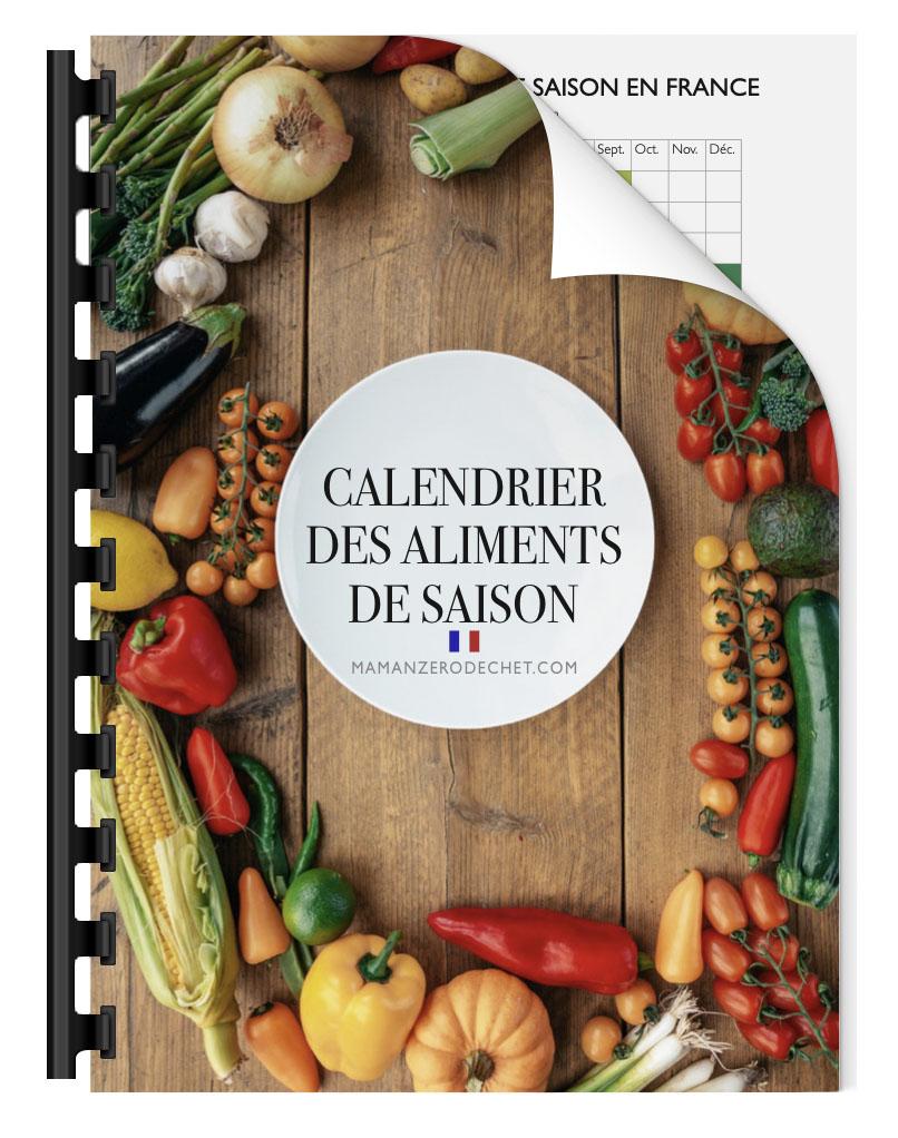 calendrier des aliments de saison fruits légumes viande poisson fromage zéro déchet