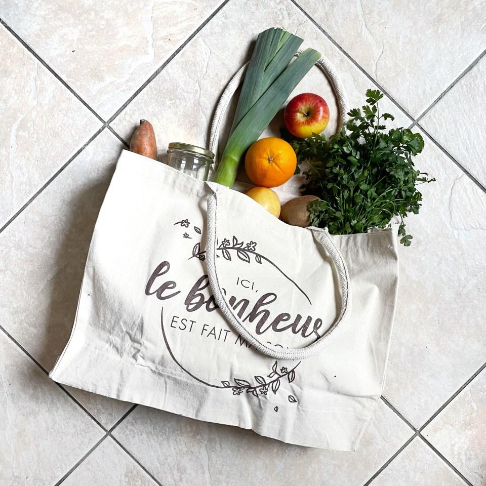 courses zero dechet au marché fruit et légumes bio local de saison